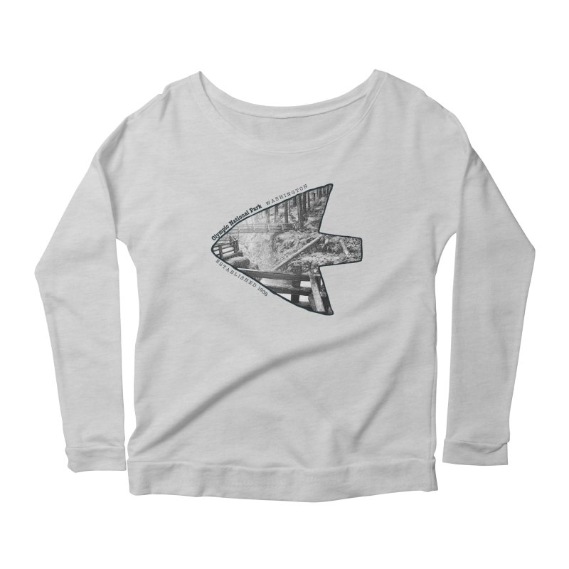 Olympic National Park Arrowhead Women's Longsleeve Scoopneck  by Of The Wild by Kimberly J Tilley