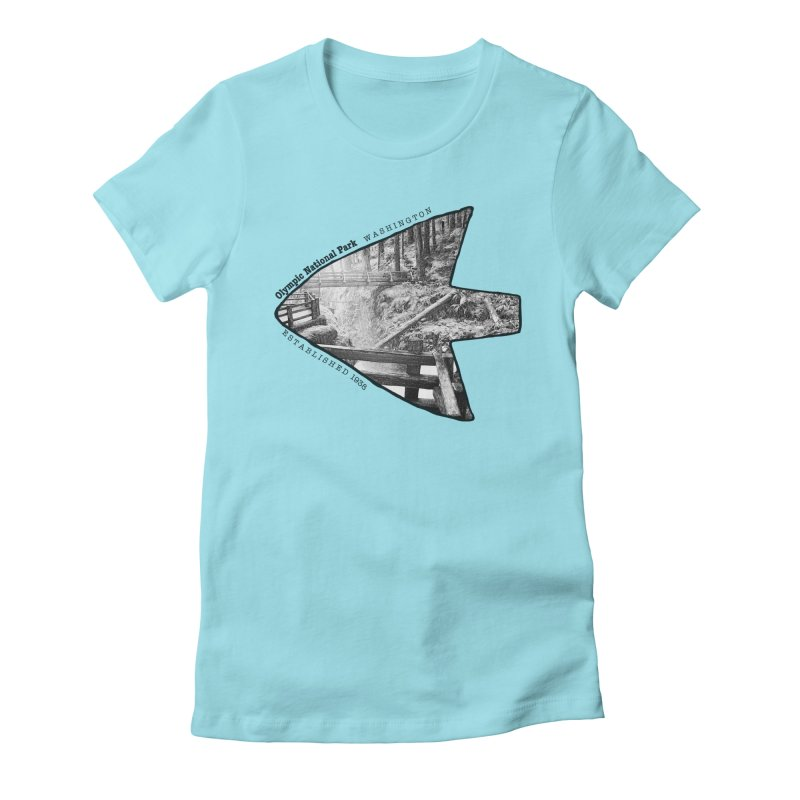 Olympic National Park Arrowhead Women's Fitted T-Shirt by Of The Wild by Kimberly J Tilley