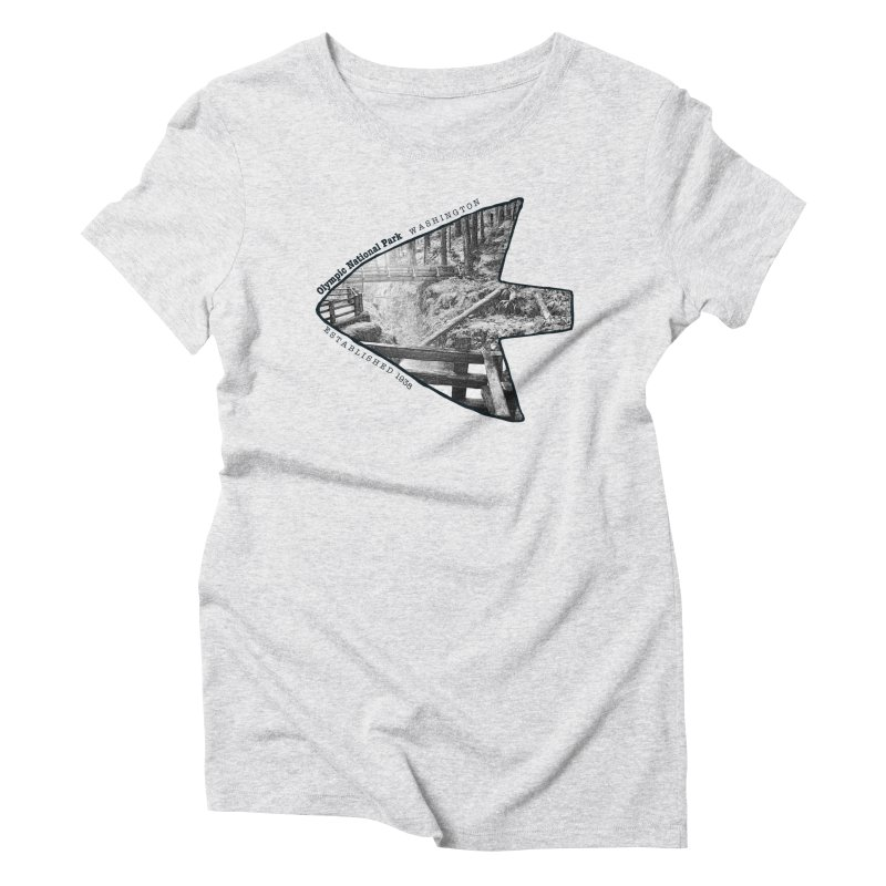 Olympic National Park Arrowhead Women's Triblend T-Shirt by Of The Wild by Kimberly J Tilley