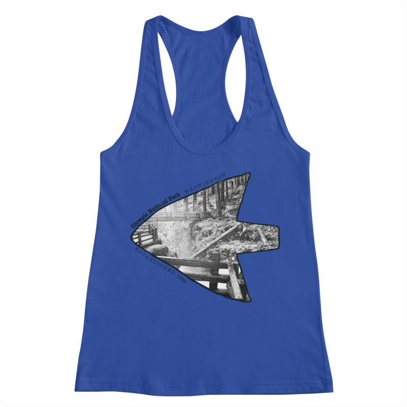 Olympic National Park Arrowhead Women's Racerback Tank by Of The Wild by Kimberly J Tilley