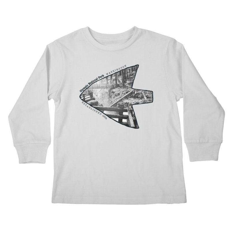 Olympic National Park Arrowhead Kids Longsleeve T-Shirt by Of The Wild by Kimberly J Tilley