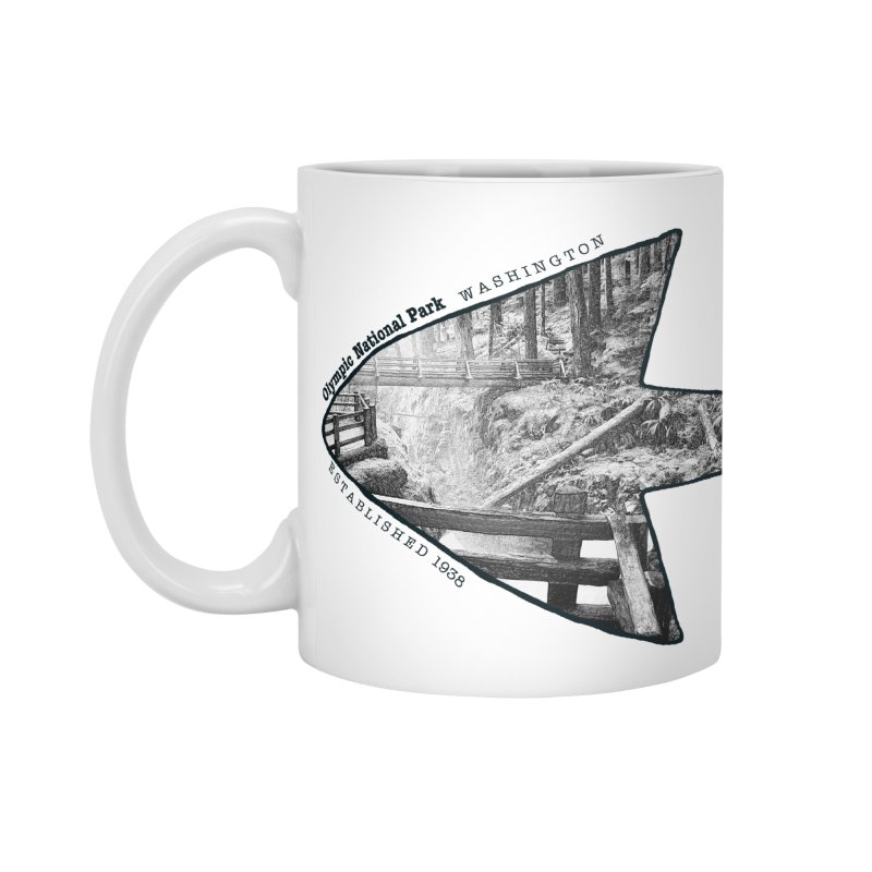 Olympic National Park Arrowhead Accessories Mug by Of The Wild by Kimberly J Tilley