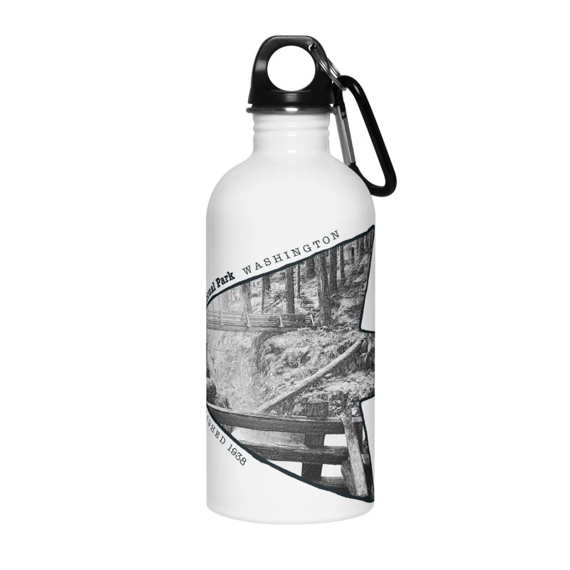 Olympic National Park Arrowhead Accessories Water Bottle by Of The Wild by Kimberly J Tilley