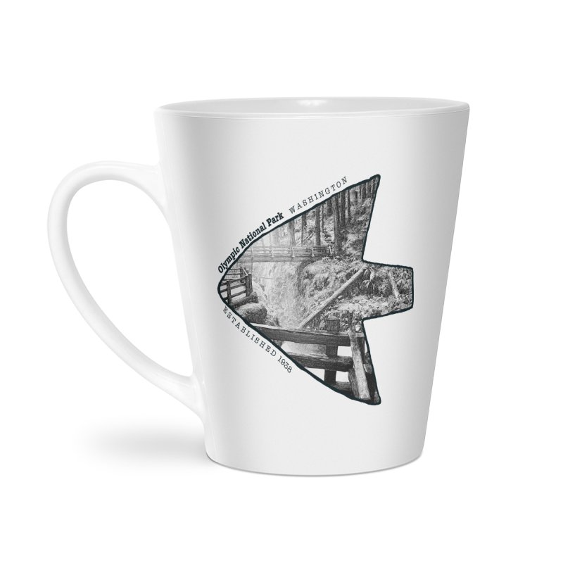 Olympic National Park Arrowhead Accessories Latte Mug by Of The Wild by Kimberly J Tilley