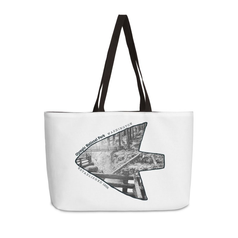 Olympic National Park Arrowhead Accessories Weekender Bag Bag by Of The Wild by Kimberly J Tilley
