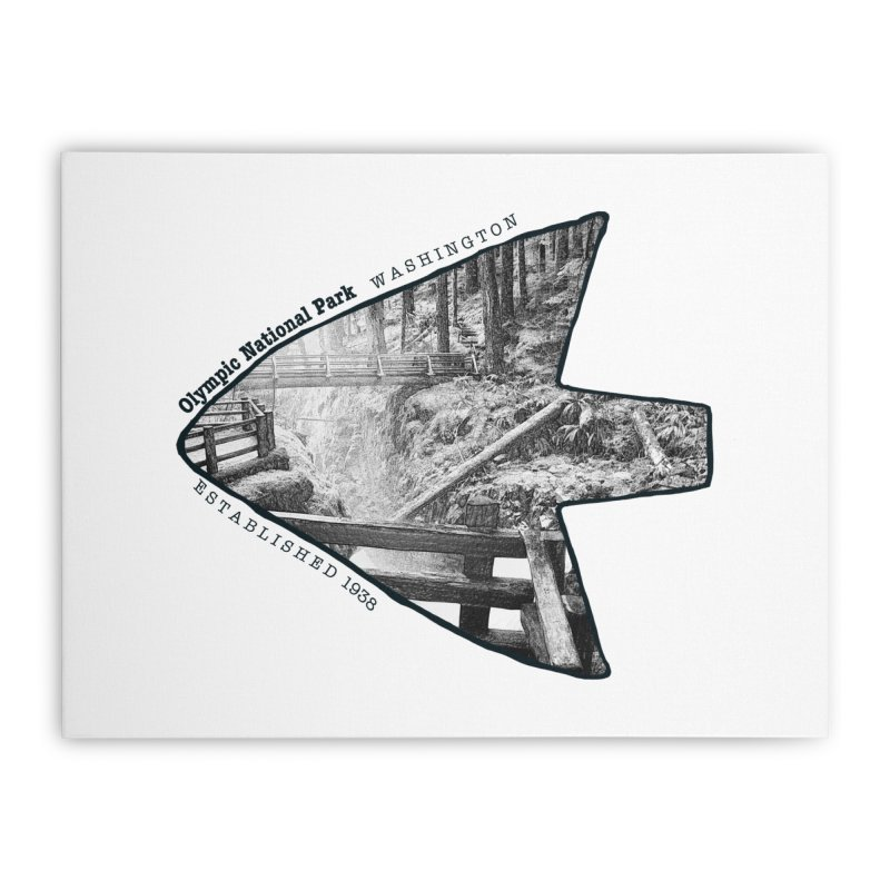 Olympic National Park Arrowhead Home Stretched Canvas by Of The Wild by Kimberly J Tilley