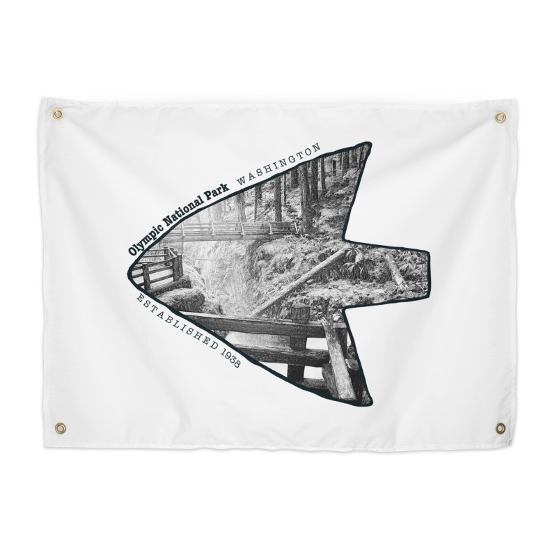Olympic National Park Arrowhead Home Tapestry by Of The Wild by Kimberly J Tilley