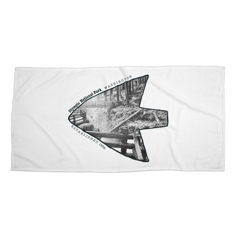 Olympic National Park Arrowhead Accessories Beach Towel by Of The Wild by Kimberly J Tilley