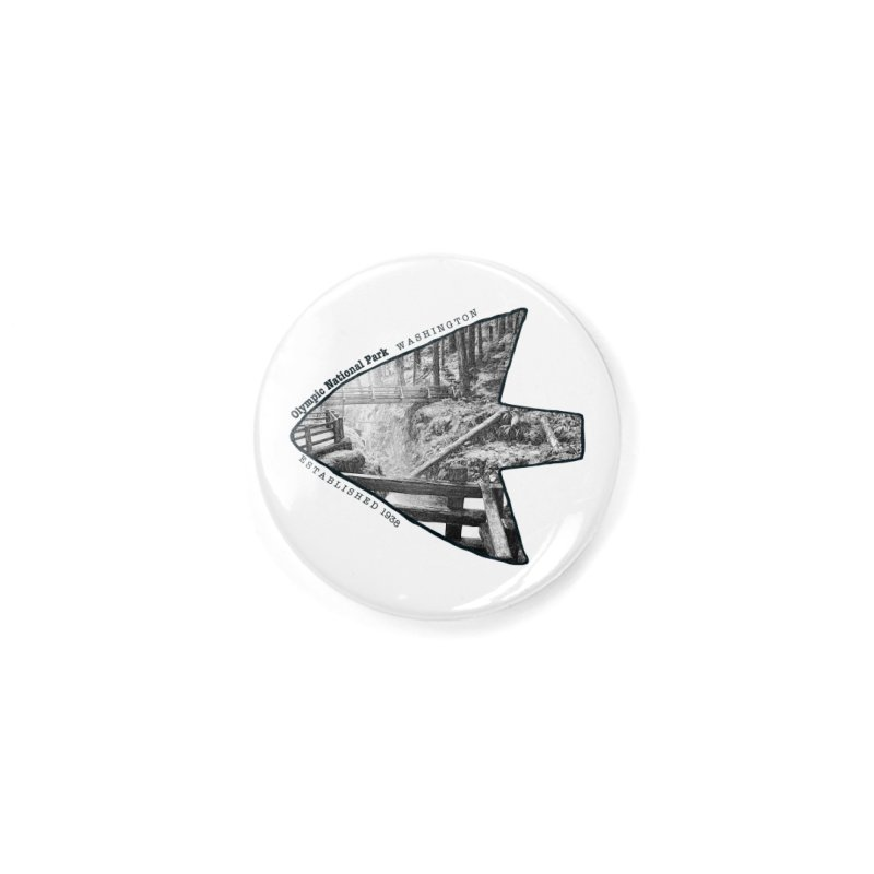 Olympic National Park Arrowhead Accessories Button by Of The Wild by Kimberly J Tilley