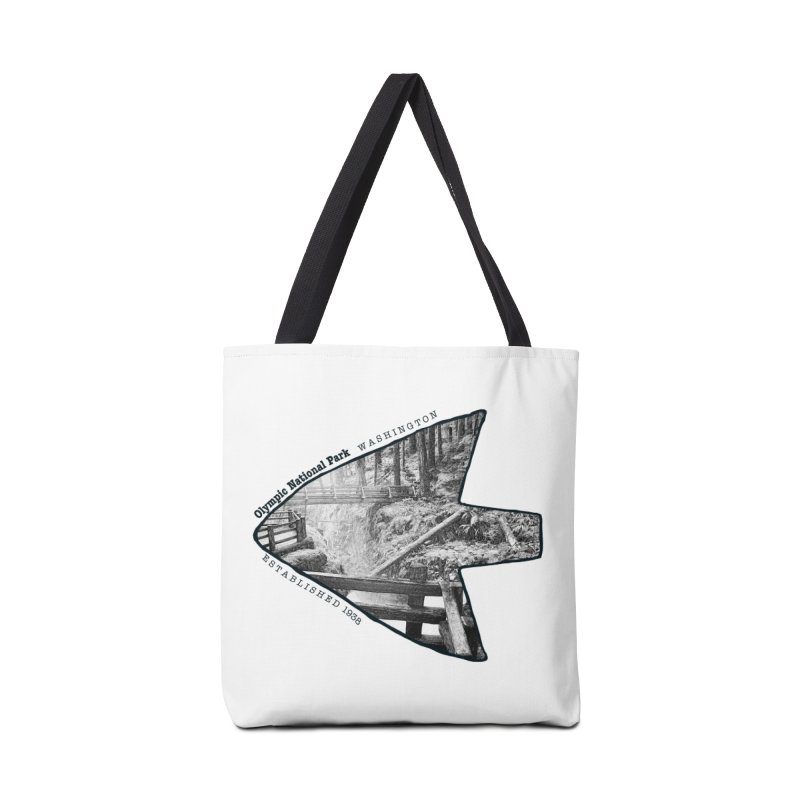 Olympic National Park Arrowhead Accessories Tote Bag Bag by Of The Wild by Kimberly J Tilley