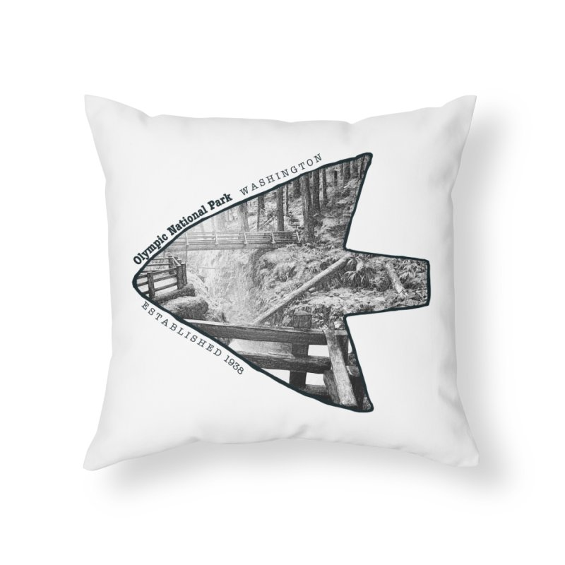 Olympic National Park Arrowhead Home Throw Pillow by Of The Wild by Kimberly J Tilley