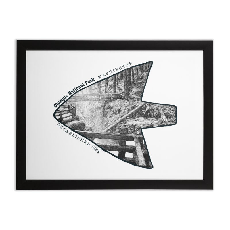 Olympic National Park Arrowhead Home Framed Fine Art Print by Of The Wild by Kimberly J Tilley