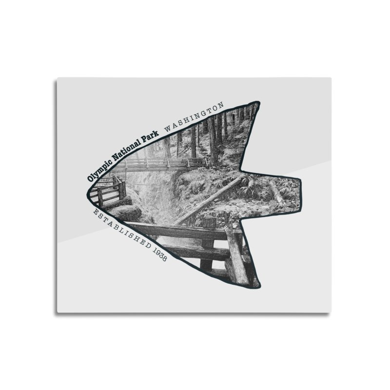 Olympic National Park Arrowhead Home Mounted Aluminum Print by Of The Wild by Kimberly J Tilley