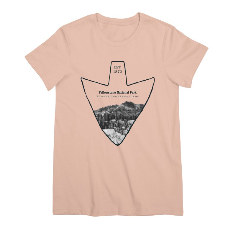 Yellowstone National Park Arrowhead Women's Premium T-Shirt by Of The Wild by Kimberly J Tilley