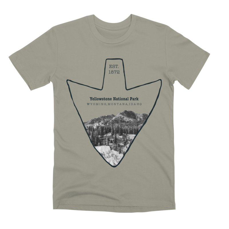Yellowstone National Park Arrowhead Men's Premium T-Shirt by Of The Wild by Kimberly J Tilley