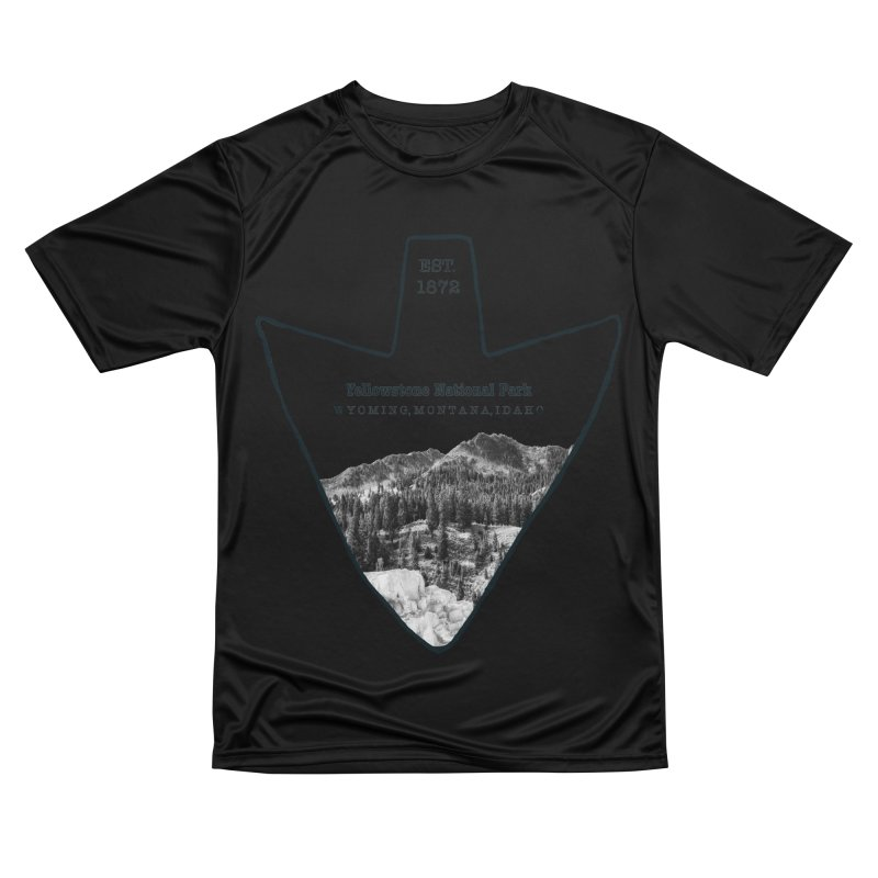 Yellowstone National Park Arrowhead Men's Performance T-Shirt by Of The Wild by Kimberly J Tilley