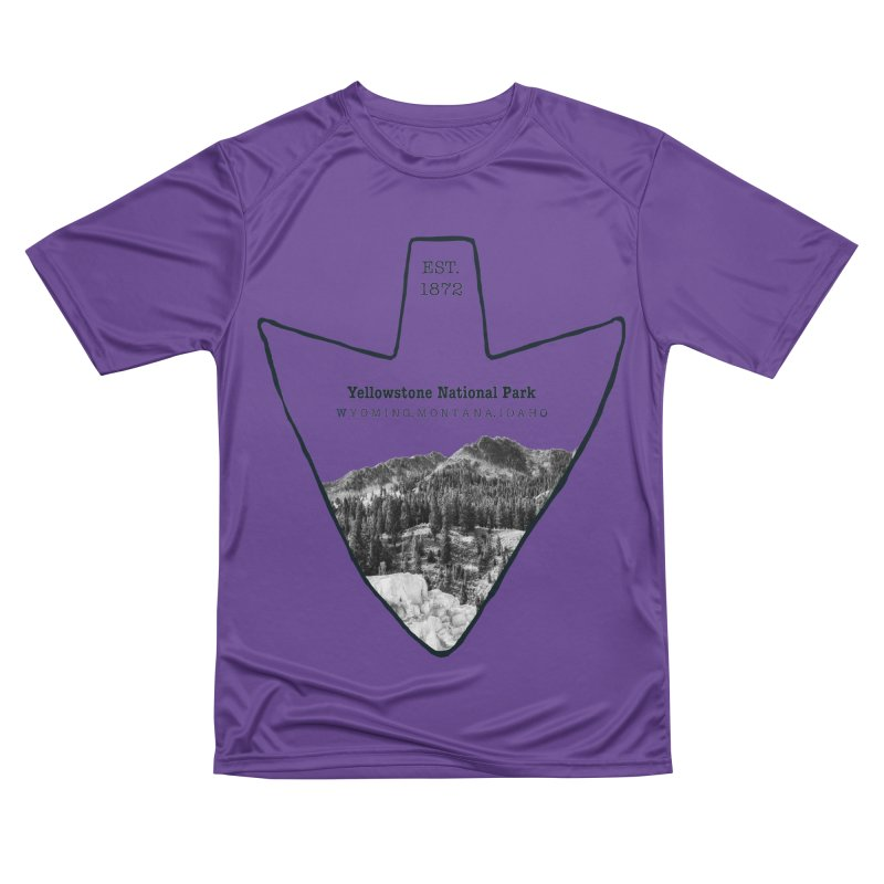 Yellowstone National Park Arrowhead Women's Performance Unisex T-Shirt by Of The Wild by Kimberly J Tilley
