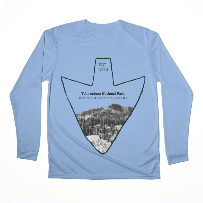 Yellowstone National Park Arrowhead Women's Performance Unisex Longsleeve T-Shirt by Of The Wild by Kimberly J Tilley