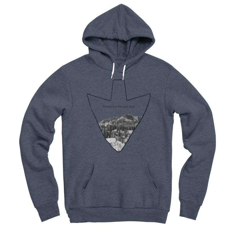 Yellowstone National Park Arrowhead Women's Sponge Fleece Pullover Hoody by Of The Wild by Kimberly J Tilley