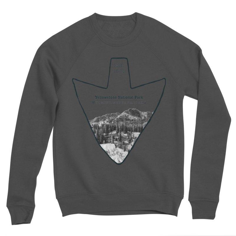Yellowstone National Park Arrowhead Men's Sponge Fleece Sweatshirt by Of The Wild by Kimberly J Tilley