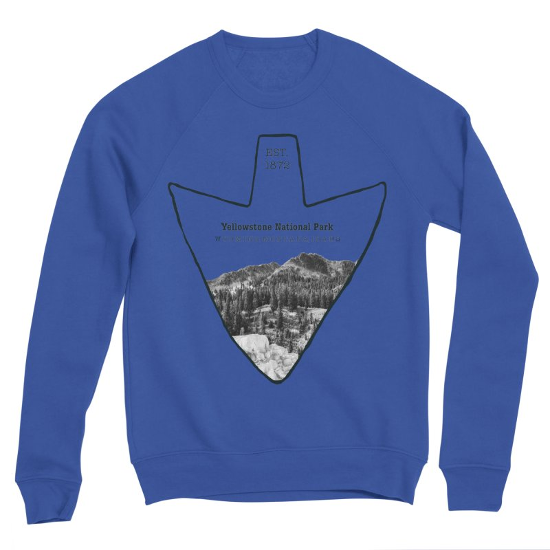 Yellowstone National Park Arrowhead Men's Sponge Fleece Sweatshirt by Of The Wild by Kimberly J Tilley