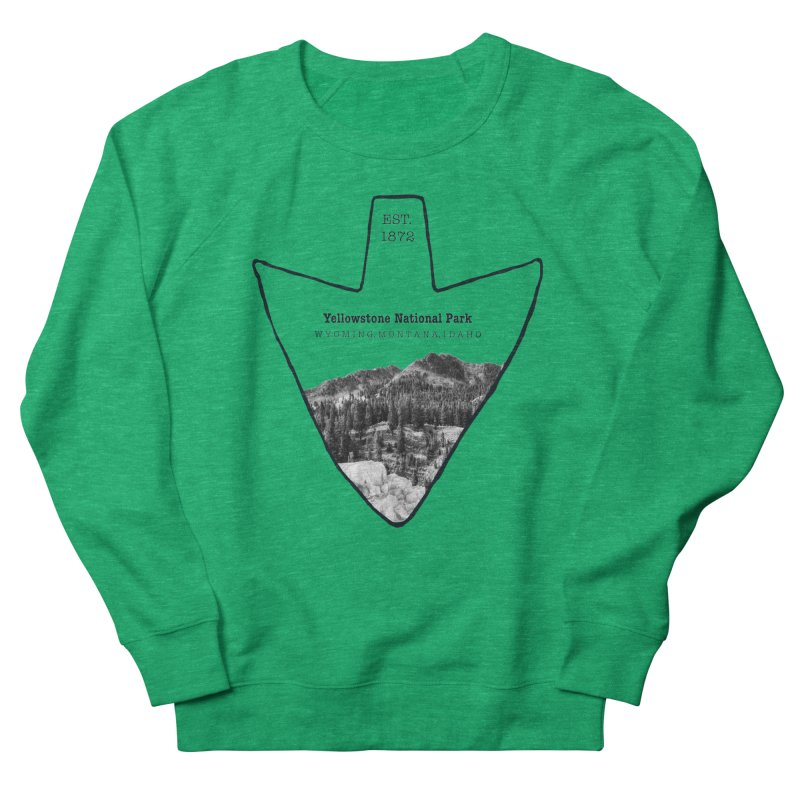 Yellowstone National Park Arrowhead Women's Sweatshirt by Of The Wild by Kimberly J Tilley