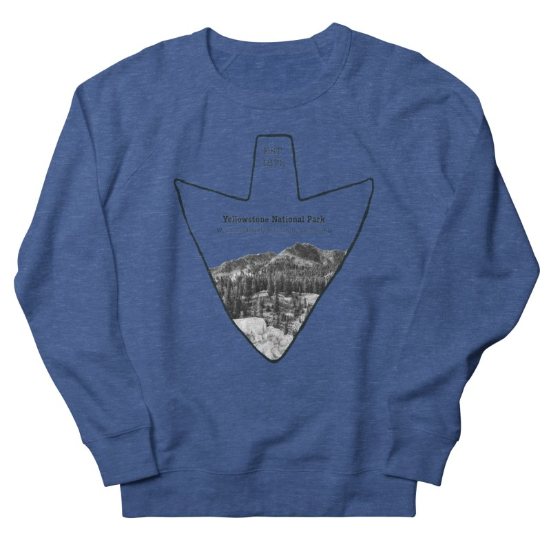 Yellowstone National Park Arrowhead Men's Sweatshirt by Of The Wild by Kimberly J Tilley