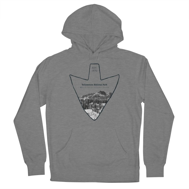 Yellowstone National Park Arrowhead Women's Pullover Hoody by Of The Wild by Kimberly J Tilley
