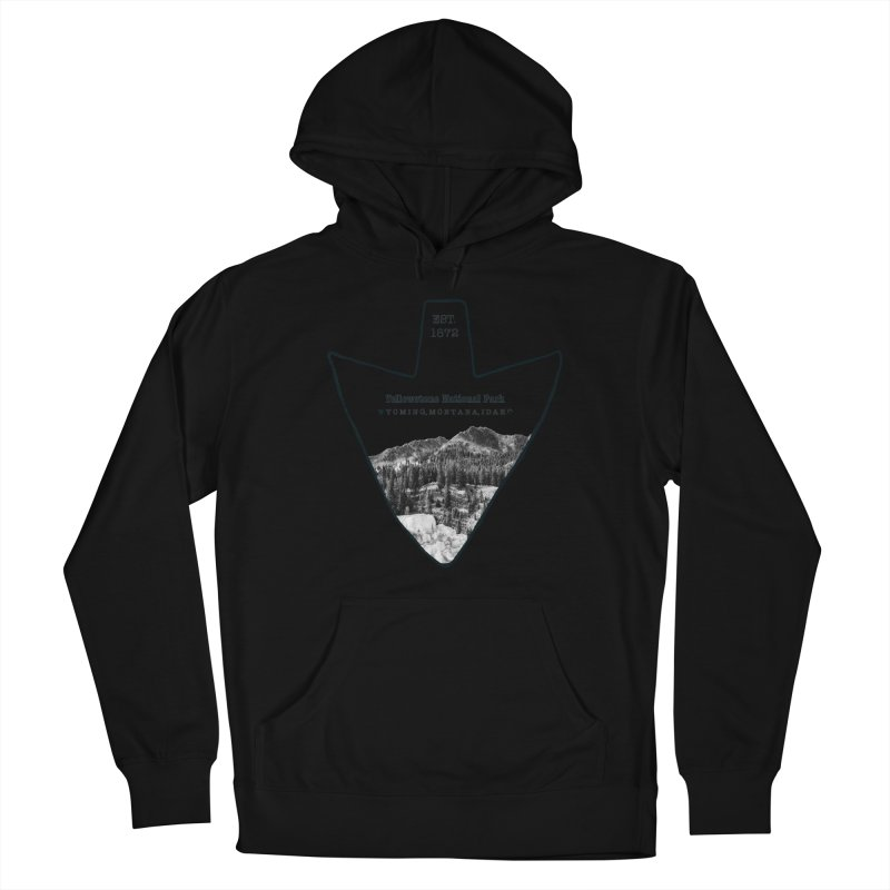 Yellowstone National Park Arrowhead Women's French Terry Pullover Hoody by Of The Wild by Kimberly J Tilley