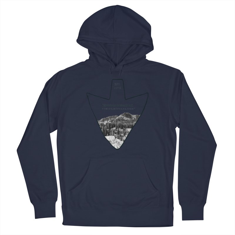 Yellowstone National Park Arrowhead Men's Pullover Hoody by Of The Wild by Kimberly J Tilley