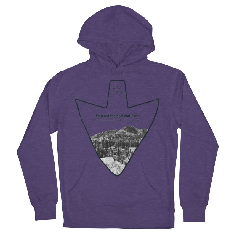 Yellowstone National Park Arrowhead Men's French Terry Pullover Hoody by Of The Wild by Kimberly J Tilley