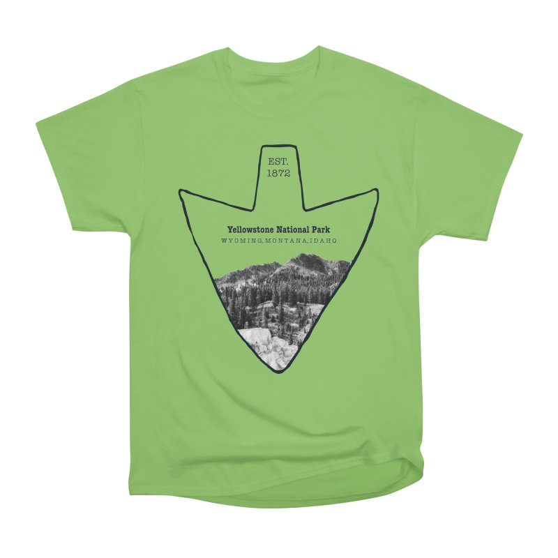 Yellowstone National Park Arrowhead Men's Heavyweight T-Shirt by Of The Wild by Kimberly J Tilley