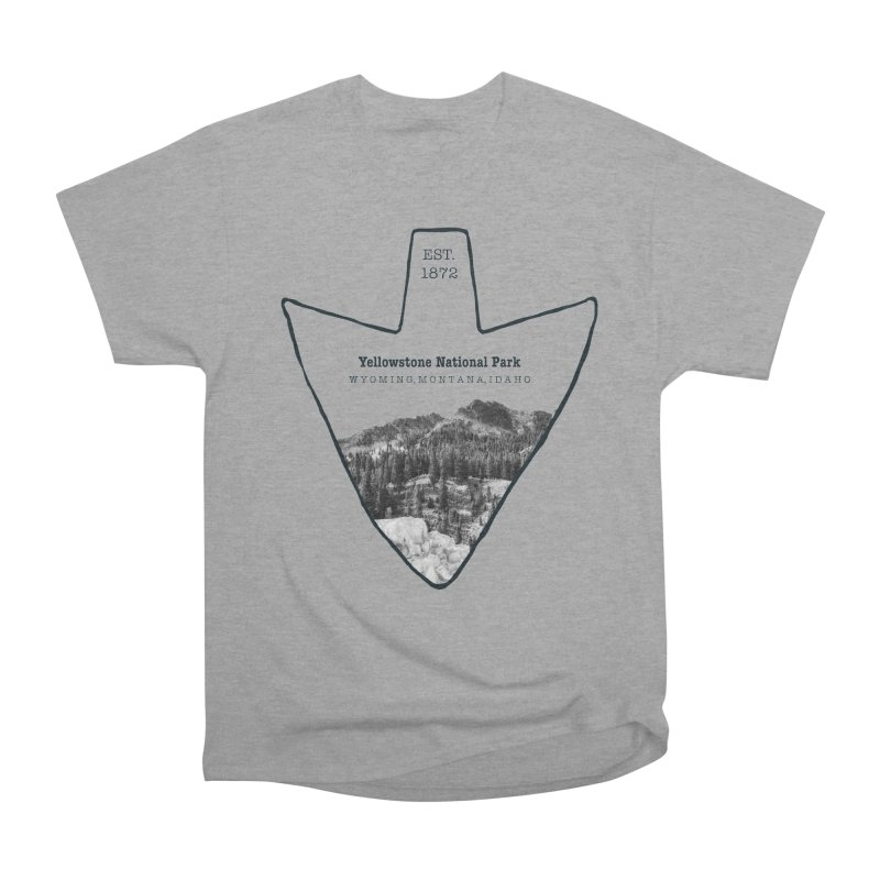 Yellowstone National Park Arrowhead Women's Heavyweight Unisex T-Shirt by Of The Wild by Kimberly J Tilley