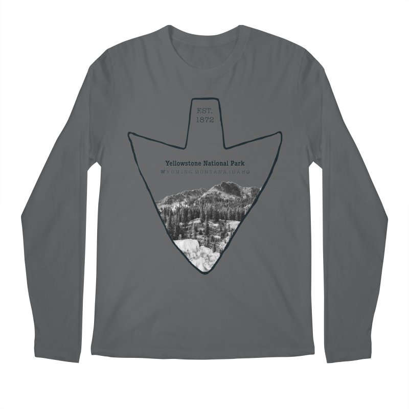 Yellowstone National Park Arrowhead Men's Longsleeve T-Shirt by Of The Wild by Kimberly J Tilley