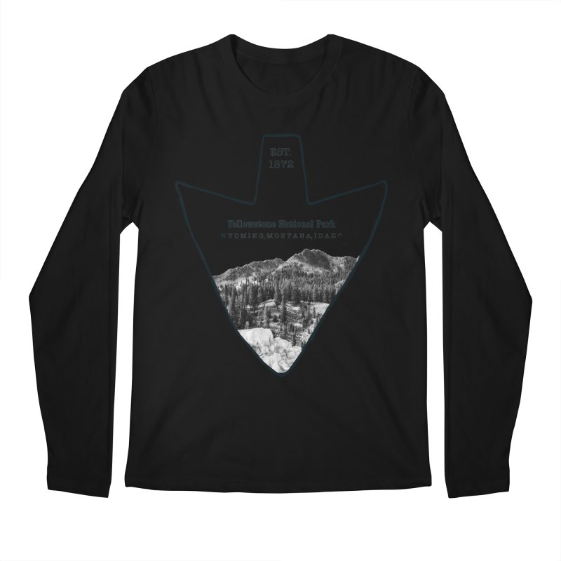 Yellowstone National Park Arrowhead Men's Regular Longsleeve T-Shirt by Of The Wild by Kimberly J Tilley