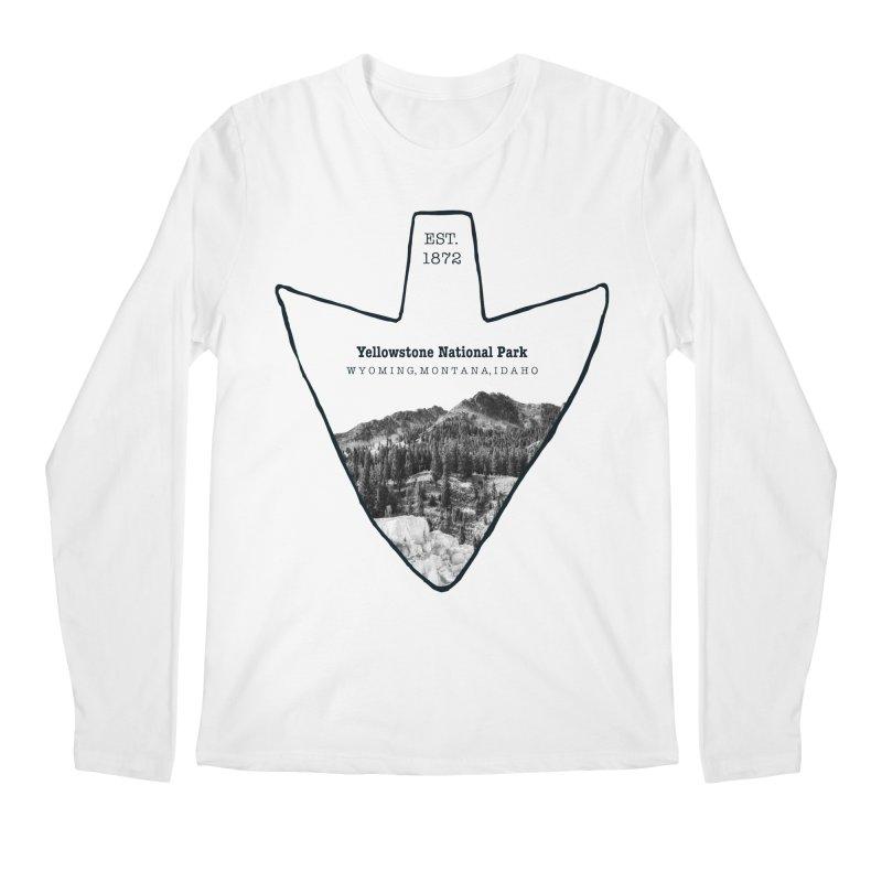 Yellowstone National Park Arrowhead Men's Regular Longsleeve T-Shirt by Of The Wild by Kimberly J Tilley
