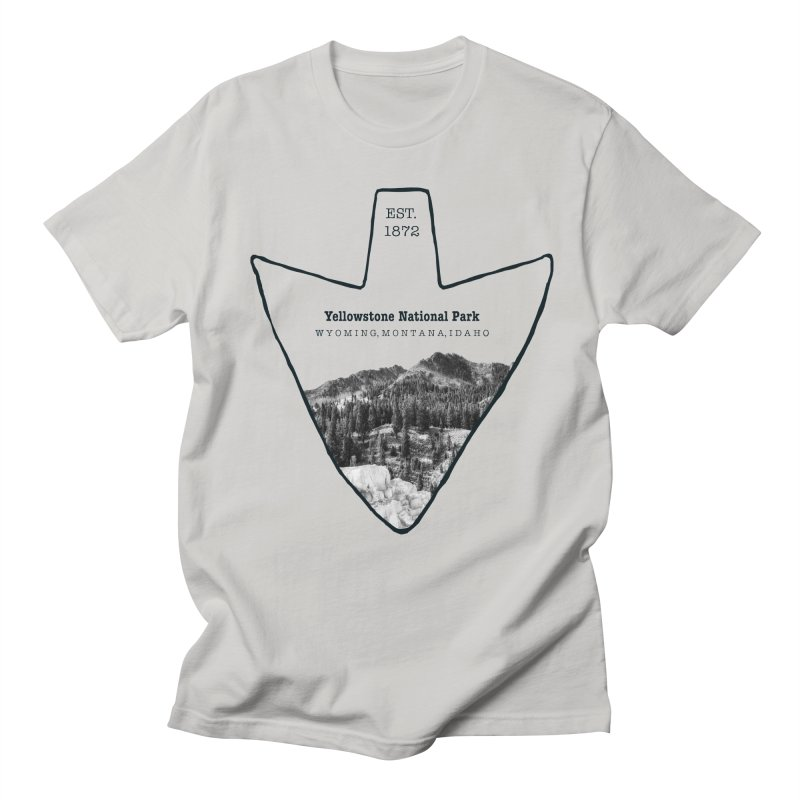 Yellowstone National Park Arrowhead Men's Regular T-Shirt by Of The Wild by Kimberly J Tilley