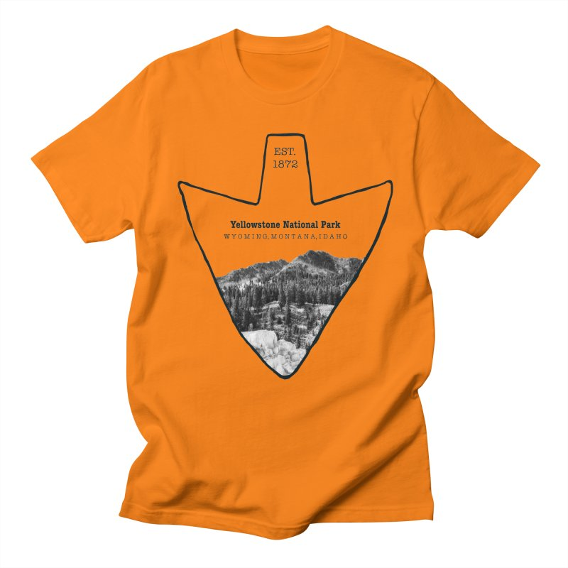 Yellowstone National Park Arrowhead Men's T-Shirt by Of The Wild by Kimberly J Tilley
