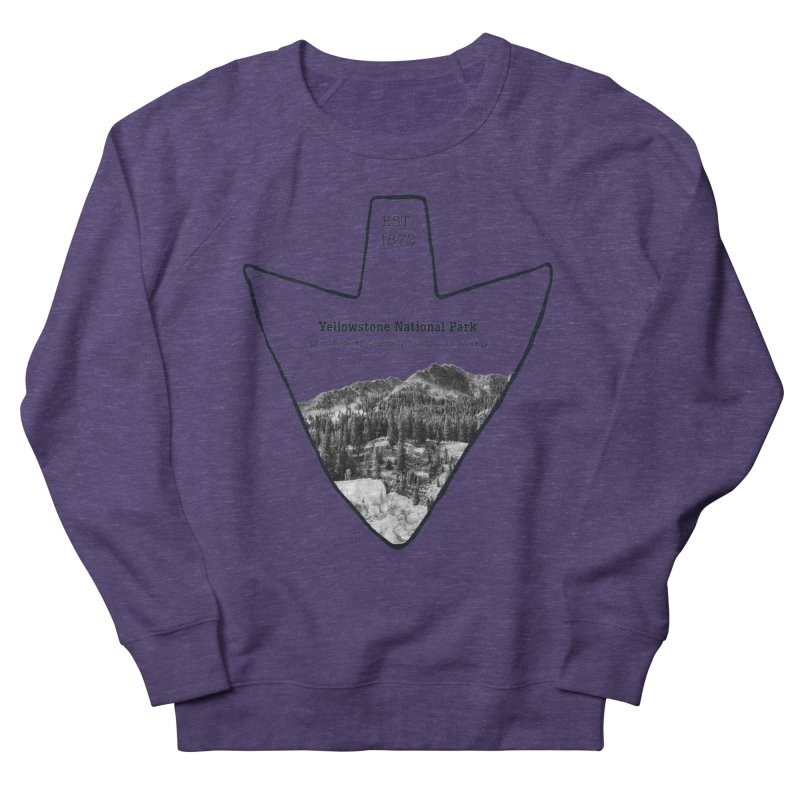 Yellowstone National Park Arrowhead Women's French Terry Sweatshirt by Of The Wild by Kimberly J Tilley