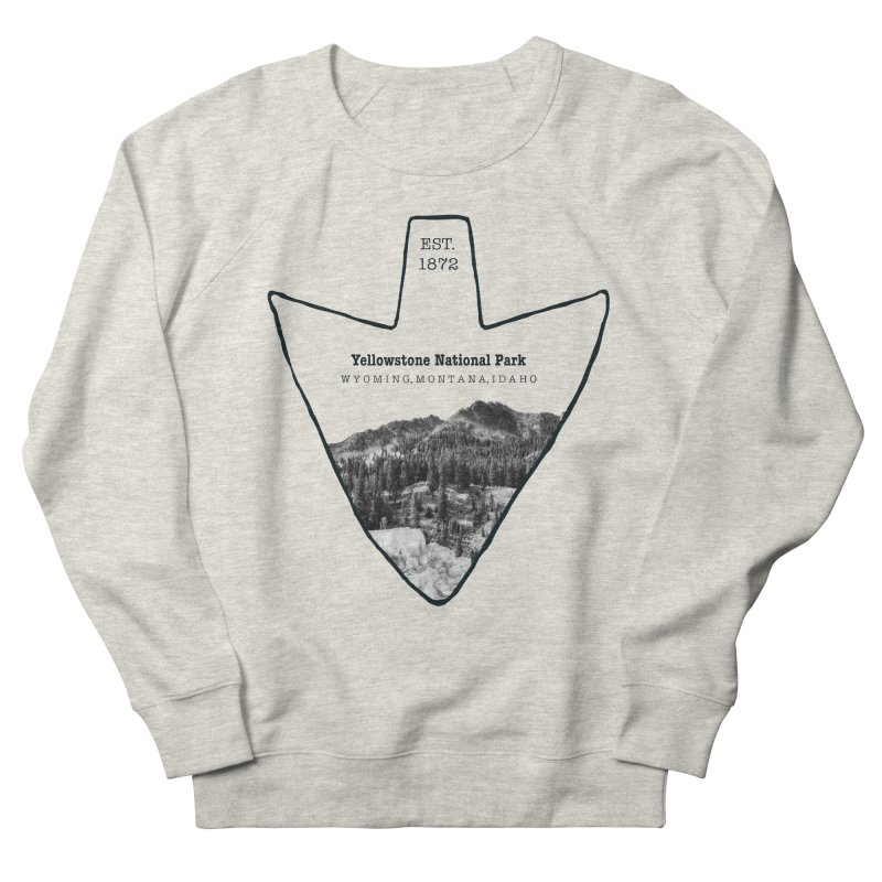 Yellowstone National Park Arrowhead Men's French Terry Sweatshirt by Of The Wild by Kimberly J Tilley