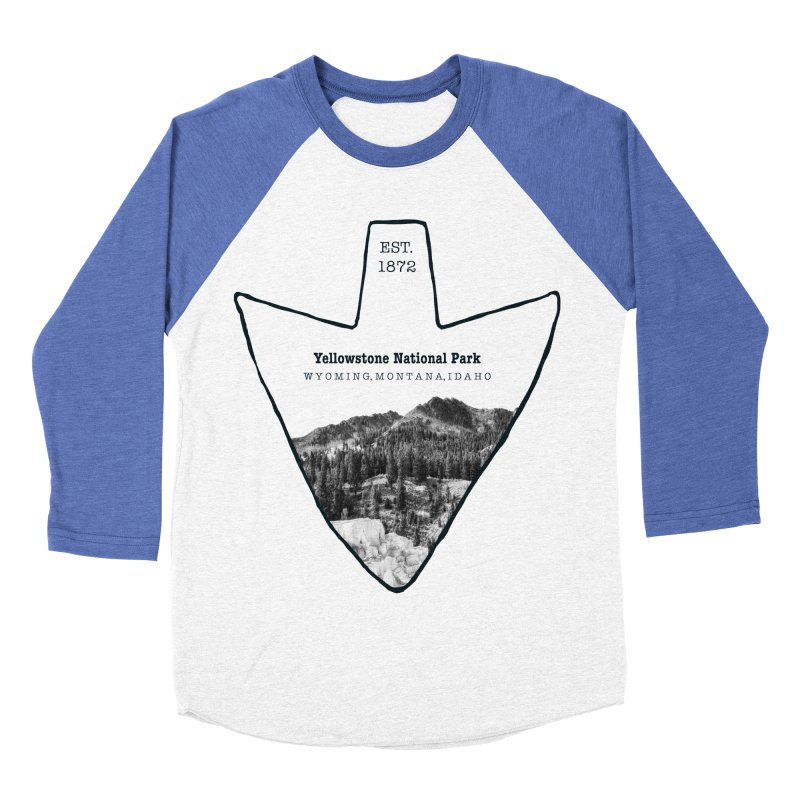 Yellowstone National Park Arrowhead Women's Baseball Triblend T-Shirt by Of The Wild by Kimberly J Tilley