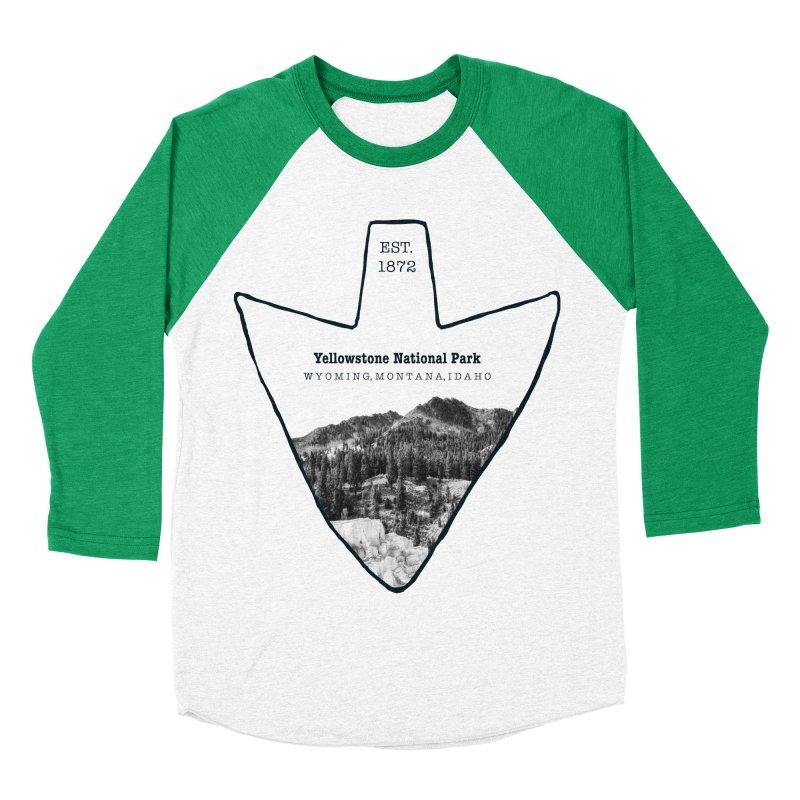 Yellowstone National Park Arrowhead Women's Baseball Triblend Longsleeve T-Shirt by Of The Wild by Kimberly J Tilley