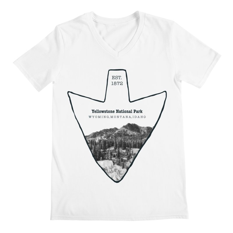 Yellowstone National Park Arrowhead Men's V-Neck by Of The Wild by Kimberly J Tilley