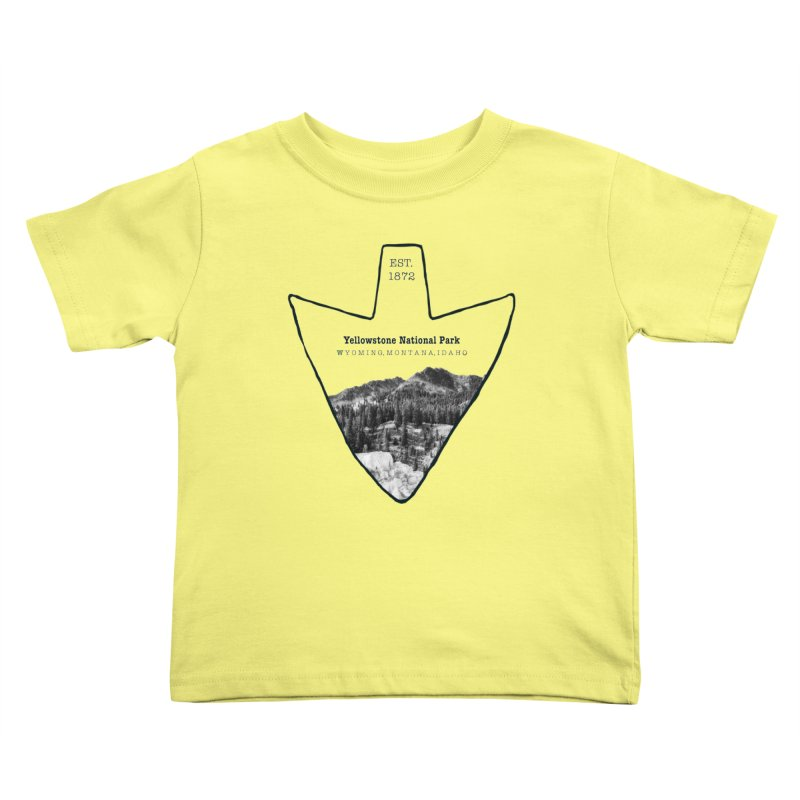 Yellowstone National Park Arrowhead Kids Toddler T-Shirt by Of The Wild by Kimberly J Tilley