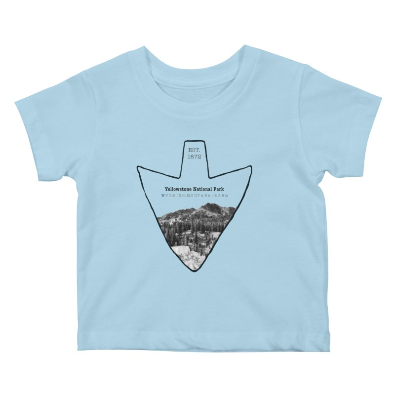 Yellowstone National Park Arrowhead Kids Baby T-Shirt by Of The Wild by Kimberly J Tilley