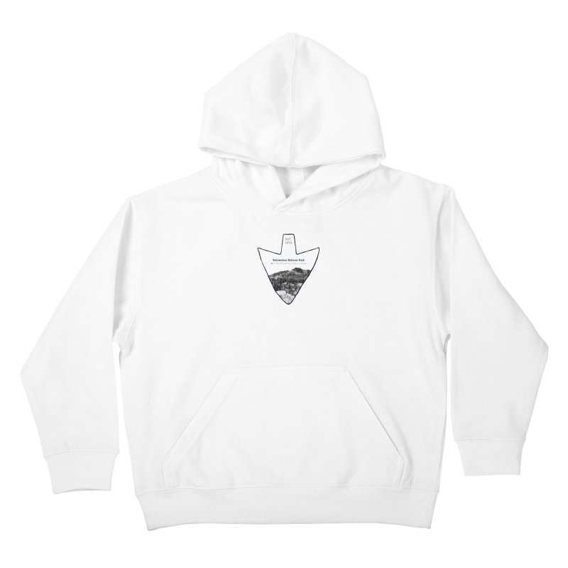 Yellowstone National Park Arrowhead Kids Pullover Hoody by Of The Wild by Kimberly J Tilley