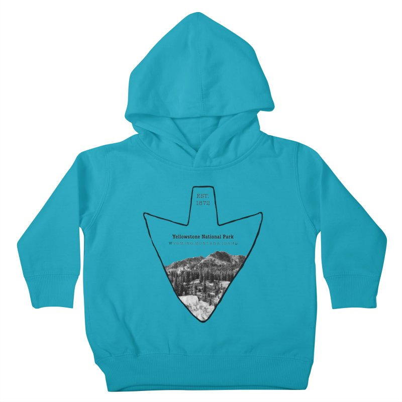 Yellowstone National Park Arrowhead Kids Toddler Pullover Hoody by Of The Wild by Kimberly J Tilley