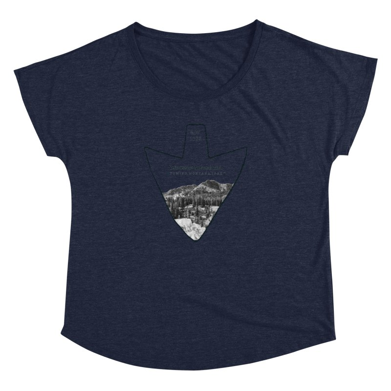 Yellowstone National Park Arrowhead Women's Dolman Scoop Neck by Of The Wild by Kimberly J Tilley