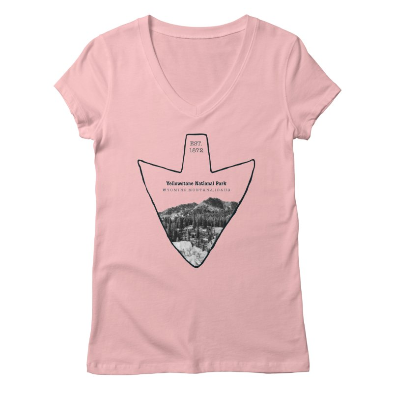 Yellowstone National Park Arrowhead Women's Regular V-Neck by Of The Wild by Kimberly J Tilley