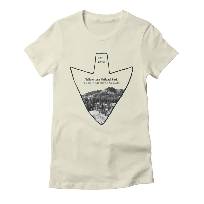 Yellowstone National Park Arrowhead Women's Fitted T-Shirt by Of The Wild by Kimberly J Tilley